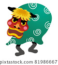 New Year's material: Lion dance 81986667