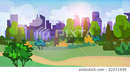 urban park outdoors city buildings cityscape background 82031696