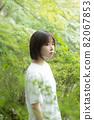 採訪一個三十多歲的女人,短鮑勃,黑髮,家庭主婦,森林裡的女人 82067853
