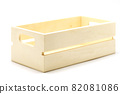 wooden box on isolated white background 82081086