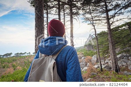 the concept of discovery and hiking, nature and freedom 82124404