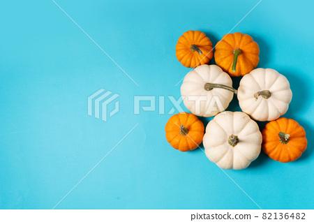 pumpkin on table 82136482