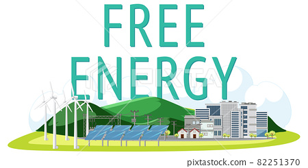 Free energy generated by wind turbine and solar panel 82251370
