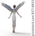 예쁜 천사 perming 3DCG 일러스트 소재 82718833