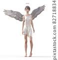 예쁜 천사 perming 3DCG 일러스트 소재 82718834