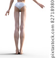 슬림 한 다리의 여성 예쁜 각선미 perming3DCG 일러스트 소재 82718980