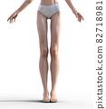 슬림 한 다리의 여성 예쁜 각선미 perming3DCG 일러스트 소재 82718981