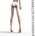 슬림 한 다리의 여성 예쁜 각선미 perming3DCG 일러스트 소재 82718983