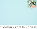 藍色背景複製空間植物 82927439