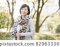 50 대 일본인 여성 · 여행을가는 여성 82963330