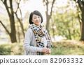50 대 일본인 여성 · 여행을가는 여성 82963332