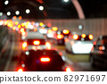 Image of traffic jam in a tunnel 82971697