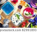 Butterfly pea flower milk jelly 82991893