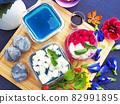 Butterfly pea flower milk jelly 82991895