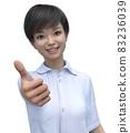 Girls high school student posing 3DCG illustrations material 83236039